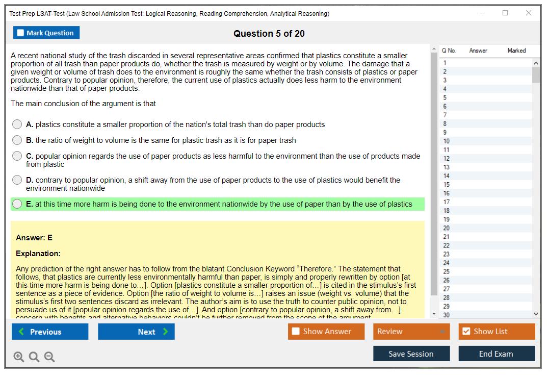 Test Prep Law School Admission Test: Logical Reasoning ...